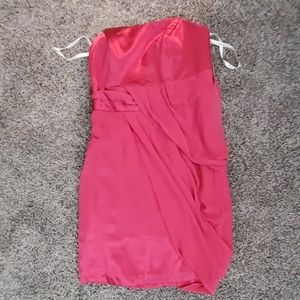 NWT strapless short chiffon dress sze 16